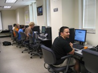 students in the GIS Lab