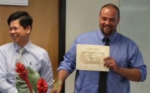 16-Outstanding Teaching Associate award to Neil Conner