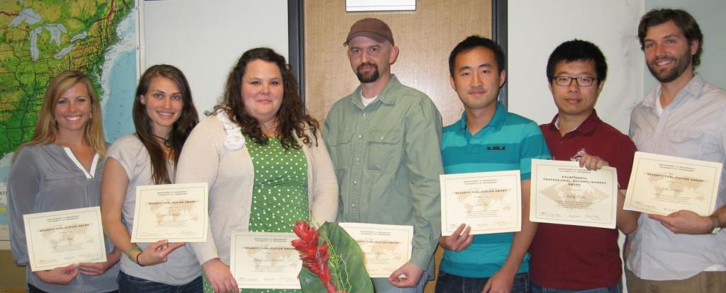 7-Graduate Student Publication Award winners