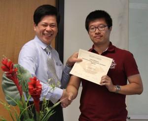 8-Professional Accomplishment award to Ziliang Zhao